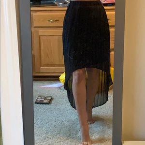 Xhilaration XS black high low shirt